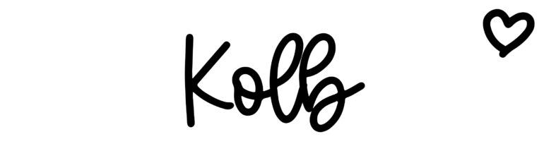 About the baby name Kolb, at Click Baby Names.com