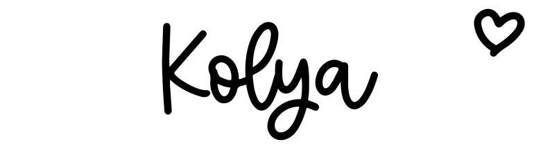 About the baby nameKolya, at Click Baby Names.com