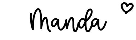 About the baby nameManda, at Click Baby Names.com