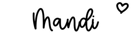 About the baby nameMandi, at Click Baby Names.com