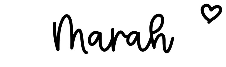 About the baby nameMarah, at Click Baby Names.com