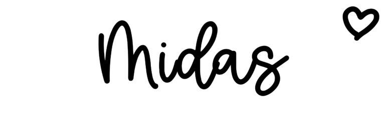 About the baby nameMidas, at Click Baby Names.com