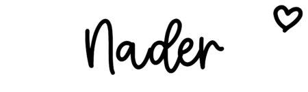 About the baby nameNader, at Click Baby Names.com
