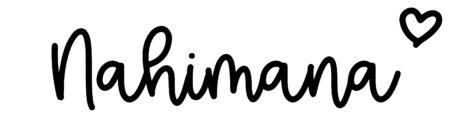 About the baby nameNahimana, at Click Baby Names.com