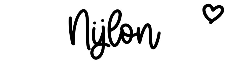 About the baby nameNijlon, at Click Baby Names.com