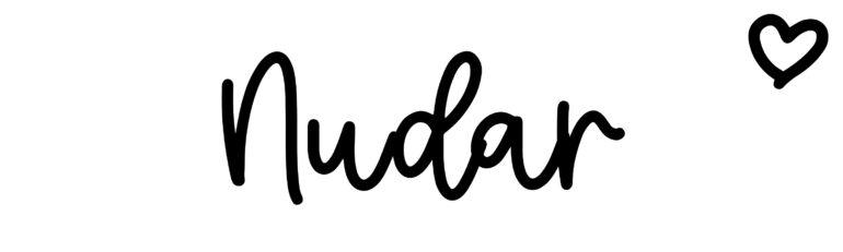 About the baby nameNudar, at Click Baby Names.com