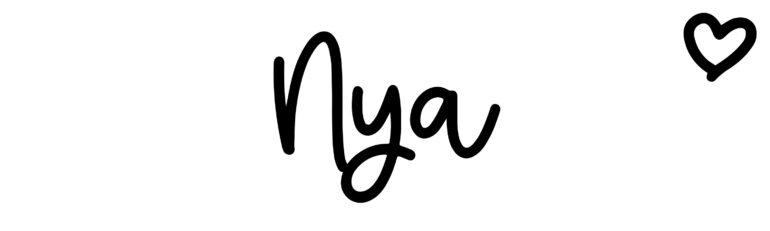 About the baby nameNya, at Click Baby Names.com