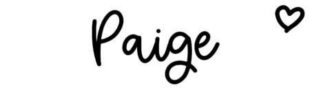 About the baby name Paige, at Click Baby Names.com