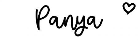 About the baby namePanya, at Click Baby Names.com