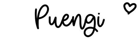 About the baby namePuengi, at Click Baby Names.com
