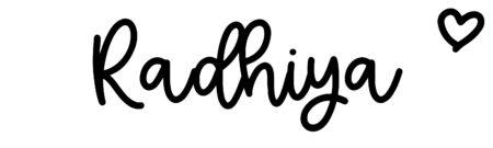 About the baby nameRadhiya, at Click Baby Names.com