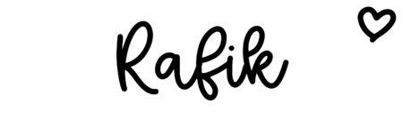 About the baby nameRafik, at Click Baby Names.com