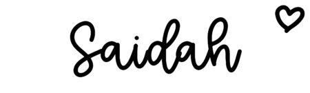 About the baby nameSaidah, at Click Baby Names.com