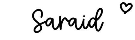 About the baby nameSaraid, at Click Baby Names.com