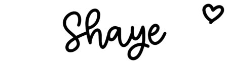 About the baby nameShaye, at Click Baby Names.com
