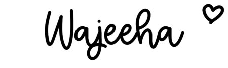 About the baby name Wajeeha, at Click Baby Names.com