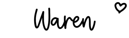 About the baby nameWaren, at Click Baby Names.com