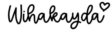 About the baby nameWihakayda, at Click Baby Names.com