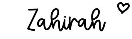 About the baby nameZahirah, at Click Baby Names.com