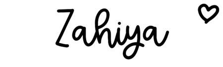 About the baby nameZahiya, at Click Baby Names.com