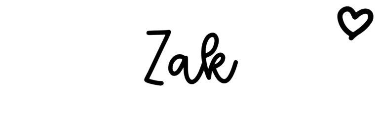 About the baby nameZak, at Click Baby Names.com
