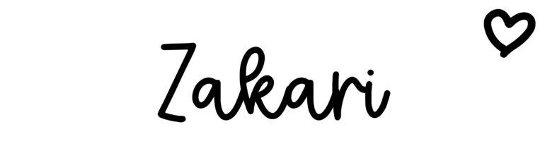 About the baby nameZakari, at Click Baby Names.com