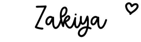 About the baby nameZakiya, at Click Baby Names.com