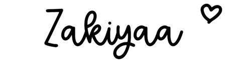 About the baby nameZakiyaa, at Click Baby Names.com